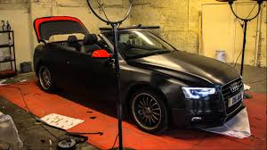 metallic wraps audi a5 s line brushed black metallic wrap from gold mirror carbon