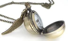 necklace pendant watch images Harry potter snitch pocket watch necklace harry potter jewelry jpg