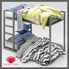 Bunk Bed Free Free Furniture Bunk Bed And Sunflower Blender 3d Architect