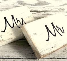 Wedding Table Signs Wood Block Wedding Table Signs Mr And Mrs Seating Sweetheart