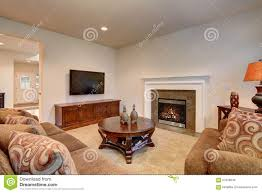 Livingroom Carpet by Typical Living Room In American Home With Carpet And Velvet Sof