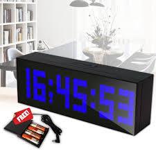 horloge sur le bureau électrique led horloge numérique alarme horloge murale table