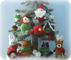 woodland christmas ornament crochet pattern set my patterns