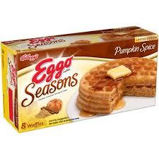 Eggo Toaster Waffles Kellogg U0027s Eggo Waffles Seasons Pumpkin Spice 8 Ct Walmart Com