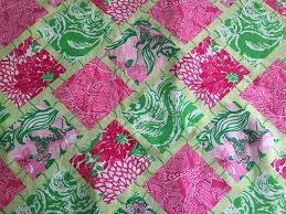 Lilly Pulitzer Home Decor Fabric by 3 Patches Of Lilly Pulitzer Fabric Jubilee Bamboo Patch 2009