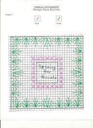 plastic canvas thanksgiving patterns shells and ribbon tissue box favecrafts com