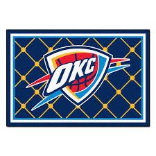 Area Rugs Oklahoma City Fanmats Oklahoma City Thunder 5 Ft X 8 Ft Area Rug 9411 The