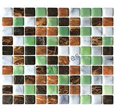 Backsplash Stick On Tiles by Amazon Com Crystiles Peel And Stick Self Adhesive Diy Backsplash