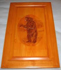 carved wood cabinet doors grizzly bear carved wood cabinet door