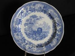 spode blue room collection aesops fables 10 inch plate made in