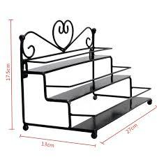 3 tier metal heart nail polish display wall rack organizer stand