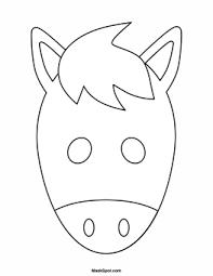 Printable Knife Templates Printable Horse Mask