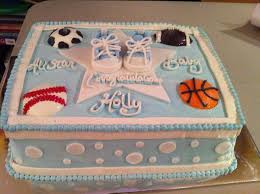 sports theme baby shower cake our cakes pinterest for a
