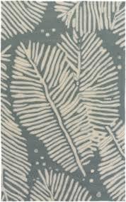 Palm Tree Area Rugs Blue Tropics Bedroom Style