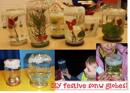 for our christmas craft session at diggers we made snow globes out