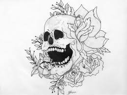 skull and flowers image by eltattooartist on deviantart