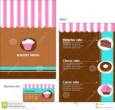 template designs of bakery and restaurant menu royalty free stock