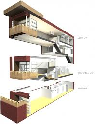 Triplex House Plans Plan 1481 Clarendon Floor Two Story Designed For Very Small Lot