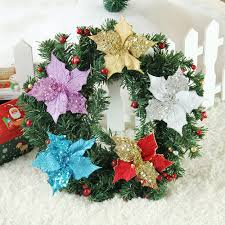 popular christmas flowers gold buy cheap christmas flowers gold