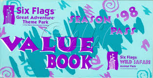 Six Flags Coupon Six Flags Great Adventure Season Pass Coupon Booklets