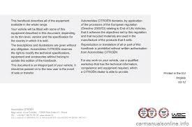 citroen siege social citroen c5 2012 rd td 2 g owner s manual