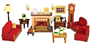 Sylvanian Families Calico Critters Luxury Living Room Set - Sylvanian families luxury living room set
