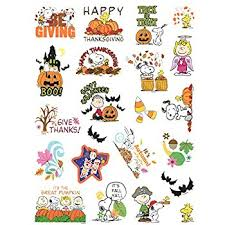 peanuts snoopy fall thanksgiving stickers