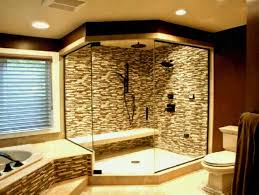 Bathroom Shower Remodel Ideas Pictures Glorious Wall Stacked Shower Design With Pebble Floor