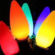 c9 led opaque bulbs