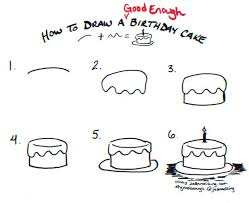 drawn cake doodle pencil and in color drawn cake doodle