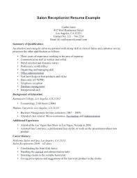 Receptionist Resume Template Resume Sample For Front Desk Receptionist Open Office Resume