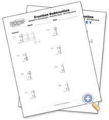mixed with regrouping fraction subtraction worksheetworks com