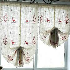reindeer pull up curtain christmas bedroom curtain ideas and