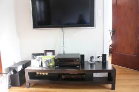 black brown coffee table tv console table refreshed ahhh you re so martha