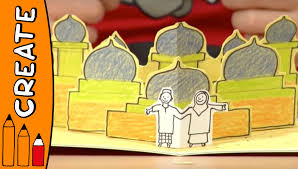 craft ideas for kids flying carpet pop up card world of art