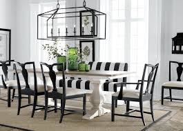 black and white dining room table decor print chairs leather set