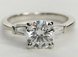 engagement rings with baguettes tapered baguette engagement ring engagement ring wall