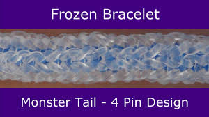 monster tail frozen bracelet by rainbow loom youtube