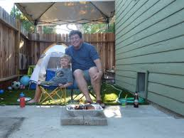 Camping In The Backyard Father Son Camping In The Backyard Gives Mom A Night Off Real