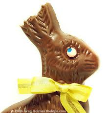 chocolate bunny ears the lope lope of the peeps