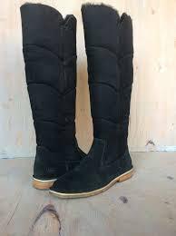 ugg australia s the knee ugg black suede the knee womens boot us 9 nib ebay