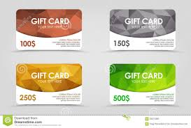 gift cards at a discount gift cards polygonal background stock vector illustration of