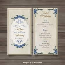 wedding invitations freepik fashioned wedding menu vector free