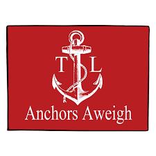 Personalized Outdoor Rugs Nautical Door Mat Personalized Anchor Doormat Monogrammed Custom