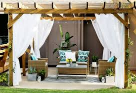 Curtains On Patio Turn Your Patio Into A Stylish Outdoor Lounge