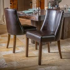 Genuine Leather Dining Room Chairs by Genuine Leather Dining Chairs U0026 Benches Birch Lane