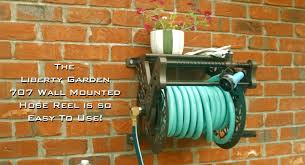 model 707 decorative hose reel with hose guide youtube