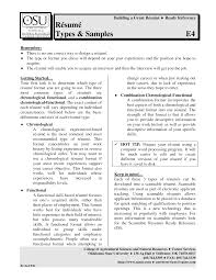 Types Of Resume Different Types Of Resumes Examples Free Resume Example And