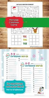 printable christmas games for elementary ages maze u0026 tic tac toe