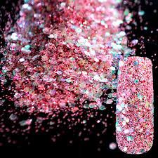aliexpress com buy purple pink sequin dust gem nail glitter